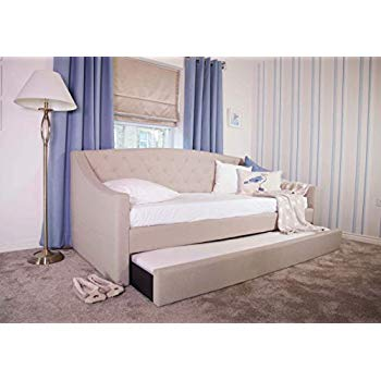 FLAIR FURNISHINGS AURORA FABRIC DAYBED WITH TRUNDLE MINK