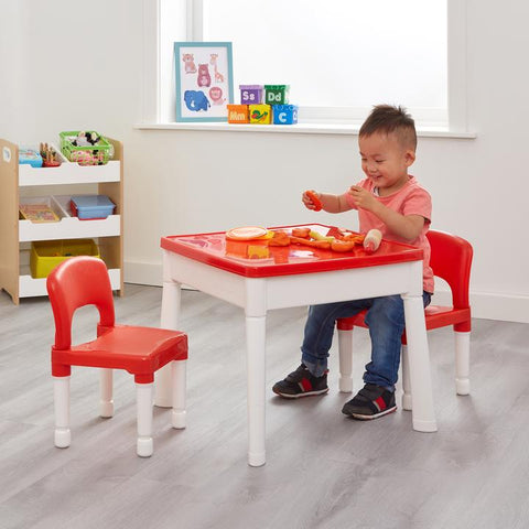 ACTIVITY TABLE – 6 IN 1 MULTIPURPOSE TABLE Red and White