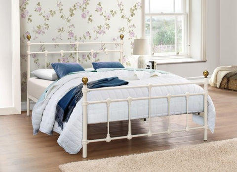 Birlea Atlas Metal Bed Frame Cream- Single, Small Double or Double