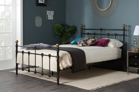 Birlea Atlas Metal Bedframe Black- Single, Small Double or Double