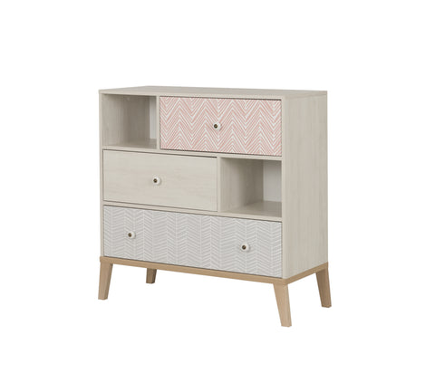 Alika 3 Drawer Chest with Two Niches