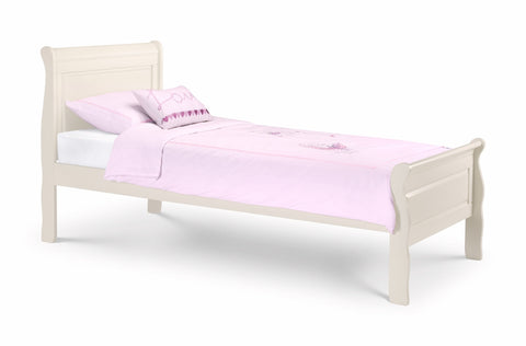 Julian Bowen Amelia Sleigh Bed Stone White - Childrens Funky Furniture - 1