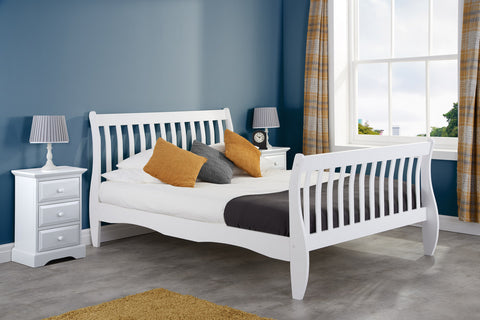 Birlea Belford Bed in White Single, Small Double, Double