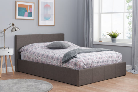 Birlea Berlin Ottoman Bed in Grey Fabric- Single, Small Double, Double, King Size