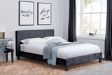 Berlin Fabric Bed in Black Crushed Velvet Single, Double, Small Double, King