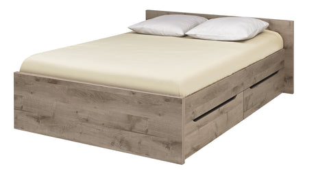 Gami Brooklyn Double Bed Bedroom Set in Oak Ash