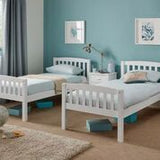 Ella Bunk Bed in Opal White or Honey Oak