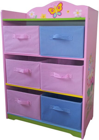 Fairy Storage With Fabric Bins - Childrens Funky Furniture - 1