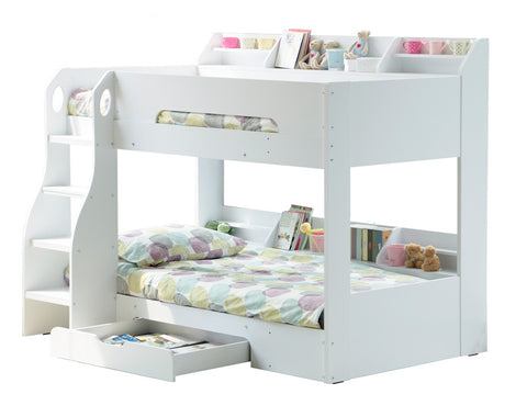 Flick Bunk Bed White - Childrens Funky Furniture - 1
