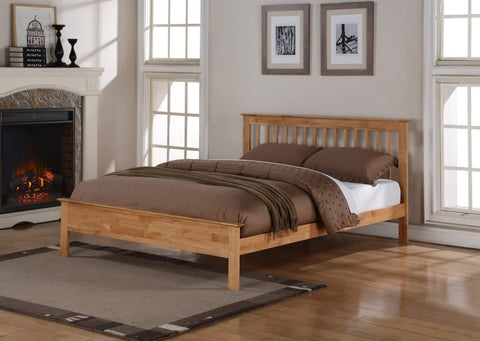 Flintshire Pentre Bed In Oak- 4 Sizes Single, Small Double, Double or King Size
