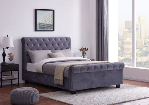 Flintshire Whitford Ottoman bed in Grey Double or King Size