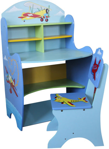Transport Learning Desk And Chair - Childrens Funky Furniture - 1