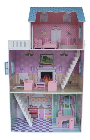 TOWNHOUSE DOLL HOUSE WITH FURNITURE