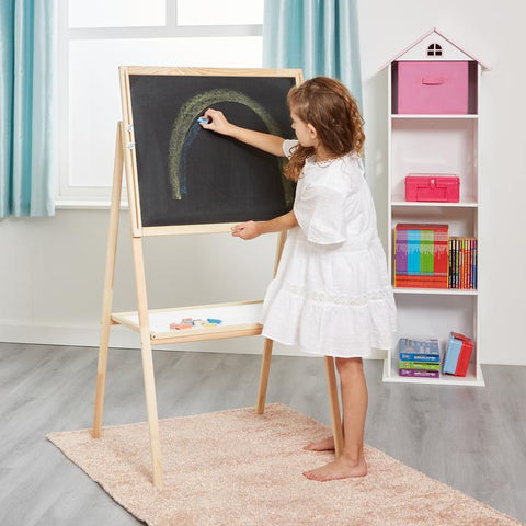 Childrens Height Adjustable Double-Sided Easel