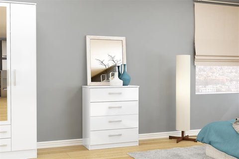 Birlea Lynx 4 Drawer Chest in White