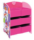 Fashion Girl Storage Shelf with Six Fabric Bins