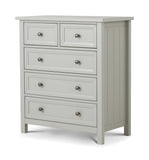 Julian Bowen Maine Dove Grey 3 + 2 Chest of Drawers