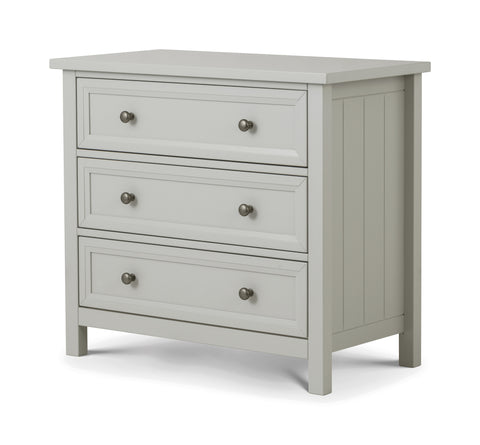 Julian Bowen Maine Dove Grey 3 Drawer Chest