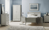 Julian Bowen Maine Dove Grey Single/Double/King Bed