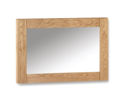Julian Bowen Marlborough Oak Wall Mirror - Childrens Funky Furniture