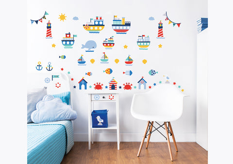 Walltastic Nautical wall sticker set