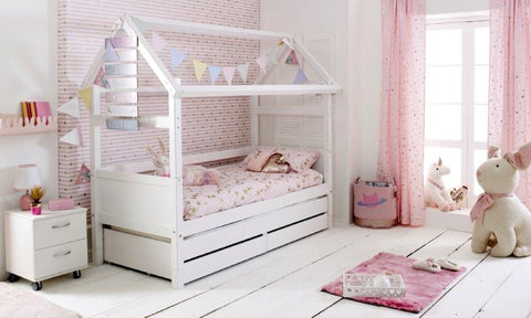 Flexa Nordic Play House 2 with Trundle and Drawers