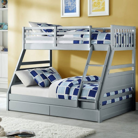 Flair Furnishings Ollie Triple Bunk bed White or Grey