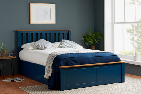 Birlea Phoenix Ottoman Bed in Navy Blue- Small Double, Double or King Size