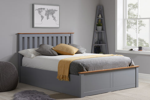 Birlea Phoenix Ottoman Bed in Stone Grey- Small Double, Double or King Size