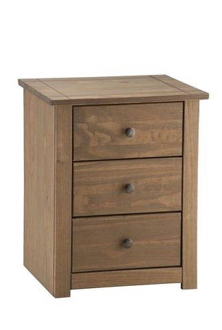 Birlea Santiago 3 Drawer Bedside Table