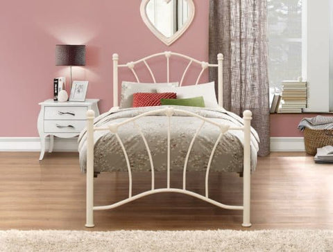 Birlea Sophia Cream Metal 3ft Single Bedframe
