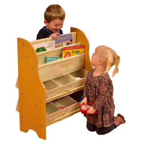TIKKTOKK TOY STORAGE UNIT WITH BINS