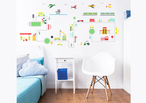 Walltastic Transport wall stickers