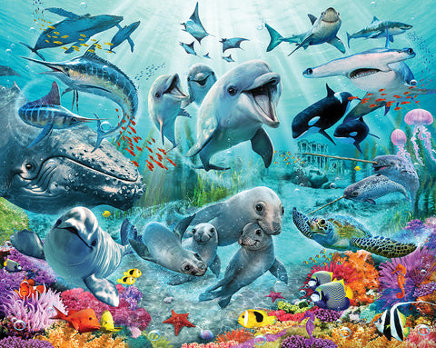 Walltastic Large Under the Sea Wall Mural