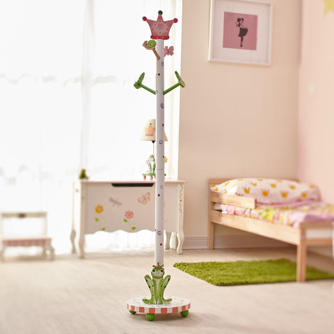 Fantasy Fields – Princess & Frog Hand Painted Kids Wooden Coat Rack