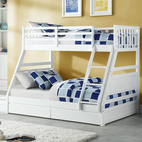 Flair Furnishings Ollie Triple Bunk bed in White or Grey