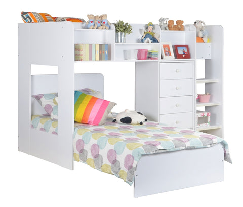 Wizard L Shaped Bunk Bed - Childrens Funky Furniture - 1