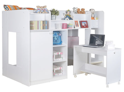 Wizard Junior High Sleeper Workstation - Childrens Funky Furniture - 1