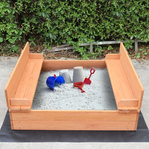 Liberty House Toys Sandpit with Seating and Cover