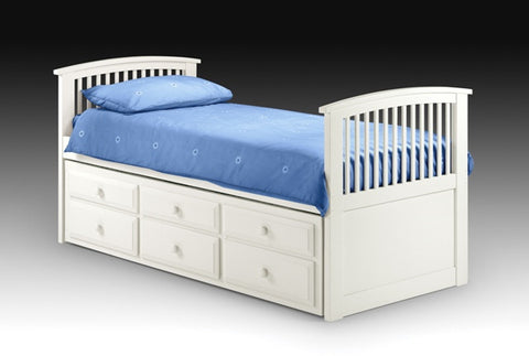 Julian Bowen Hornblower Cabin Bed - White - Childrens Funky Furniture