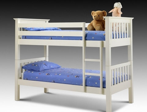 Julian Bowen Barcelona Bunk Beds - Stone White - Childrens Funky Furniture - 1