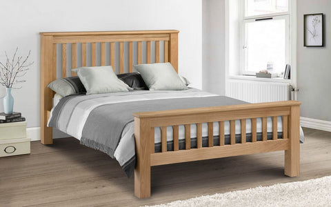 Julian Bowen Amsterdam Oak Double Bed HFE