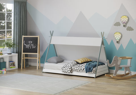Flair Furnishings Apache Teepee single bed- White or Gray