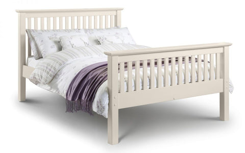 Julian Bowen Barcelona HFE Bed - Stone White Double