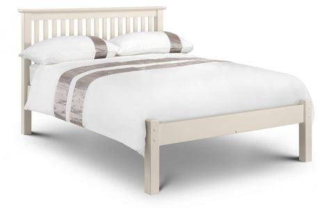 Julian Bowen Barcelona Bed LFE Stone White- Single, Double, Small Double or King