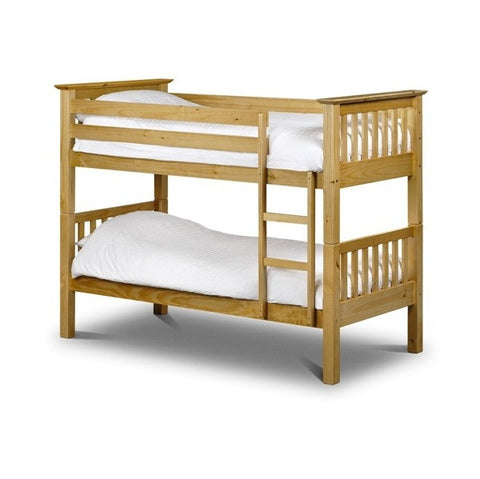 Julian Bowen Barcelona Bunk Beds - Pine - Childrens Funky Furniture - 1