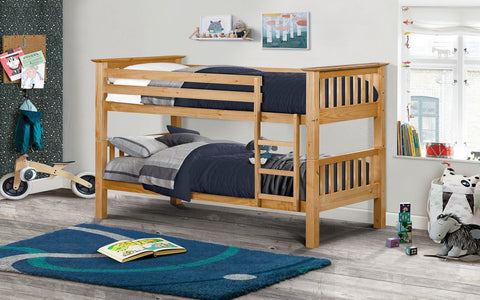 Julian Bowen Barcelona Bunk Beds - Antique Pine