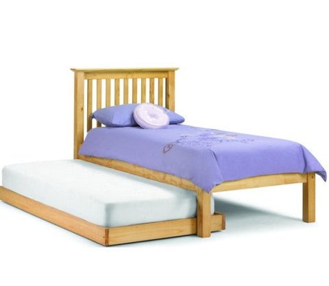 Julian Bowen Barcelona Single LFE Bed with Hideaway - Pine - Childrens Funky Furniture