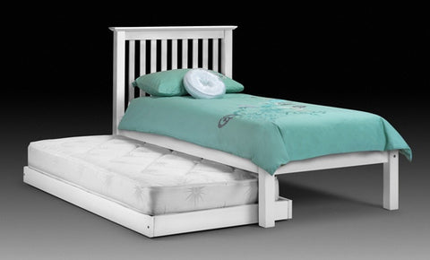 Julian Bowen Barcelona Single LFE Bed with Hideaway - White - Childrens Funky Furniture