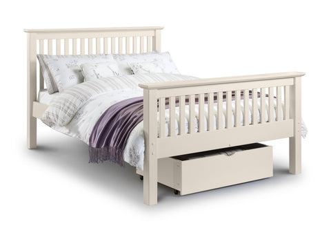 Julian Bowen Barcelona Double Bed - Stone White - Childrens Funky Furniture
